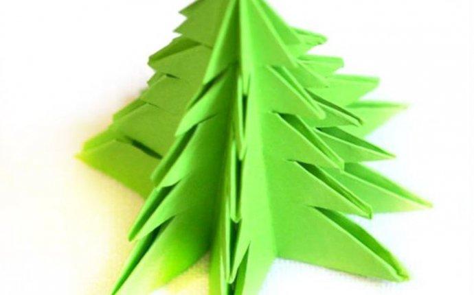 ЕЛКА из бумаги/ Без клея /Новогодние ОРИГАМИ Как Сделать Елку