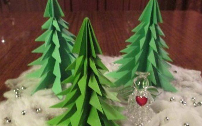Елка из бумаги без клея.Christmas tree made of paper.Origami