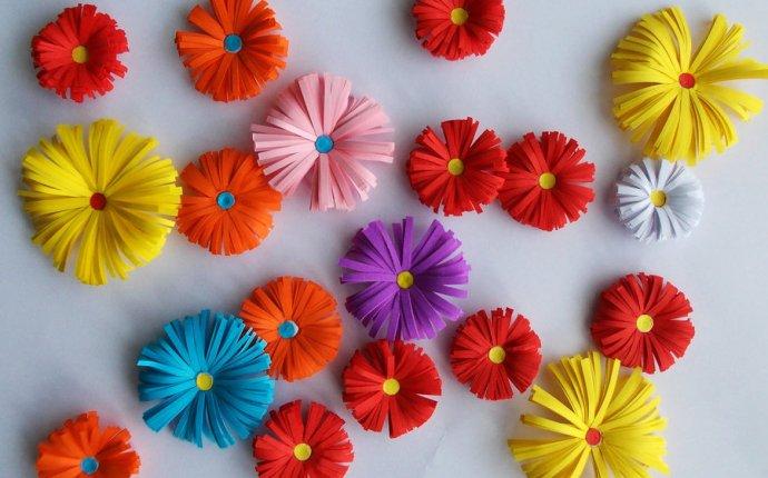 как сделать из цветной бумаги красивые цветы - Портал самоучек