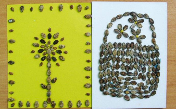 Поделки для детей из арбузных семечек