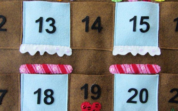 поделки из фетра. Как сделать календарь своими руками (