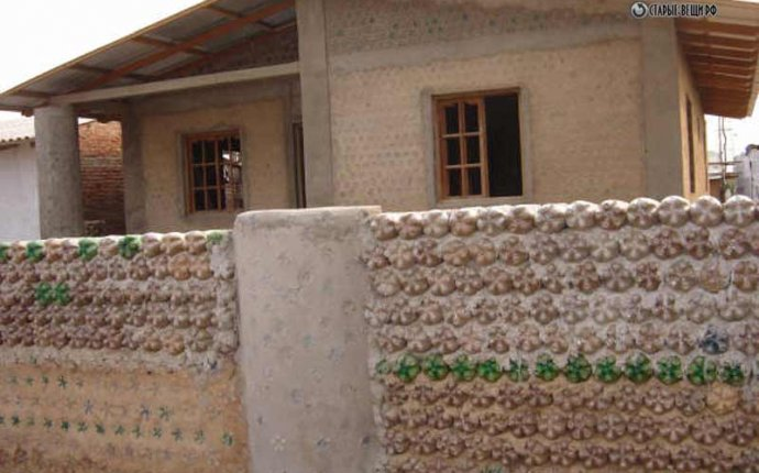 Строительтво дома из пластиковых бутылок. - Чудесная дача